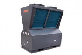 空气能热泵游泳池热水机:10HP 顶出风风